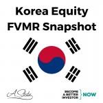 Korea Equity FVMR Snapshot