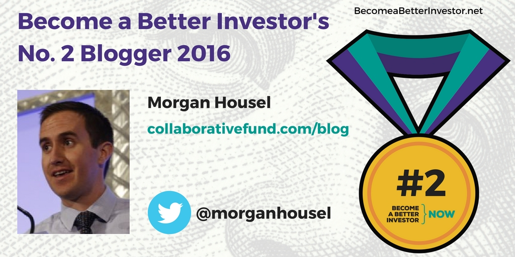 Congratulations @morganhousel on becoming the no. 2 Become a Better Investor Blogger 2016!