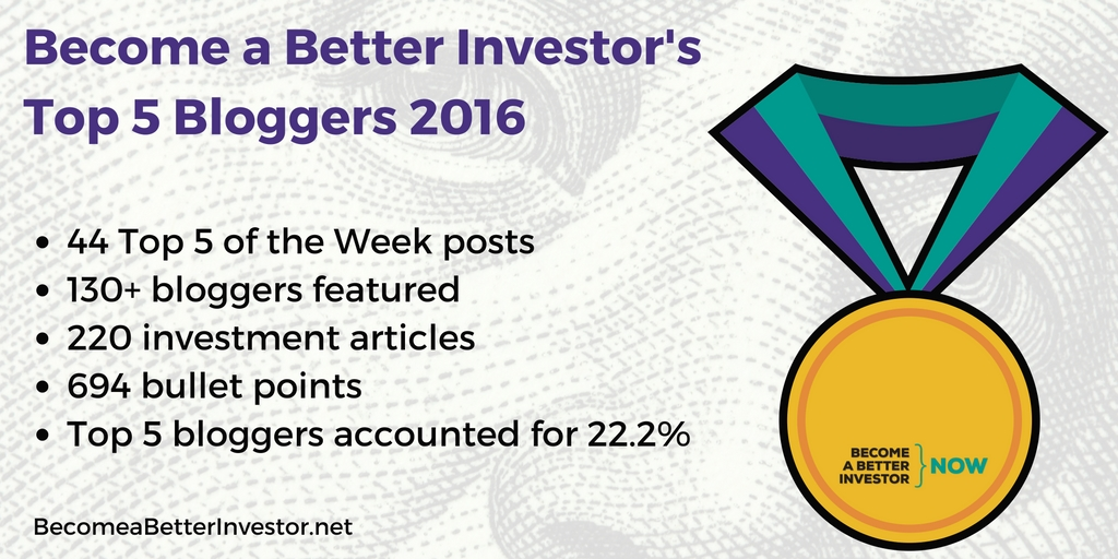 Become a Better #Investor's Top 5 Bloggers 2016 - See the Full List!