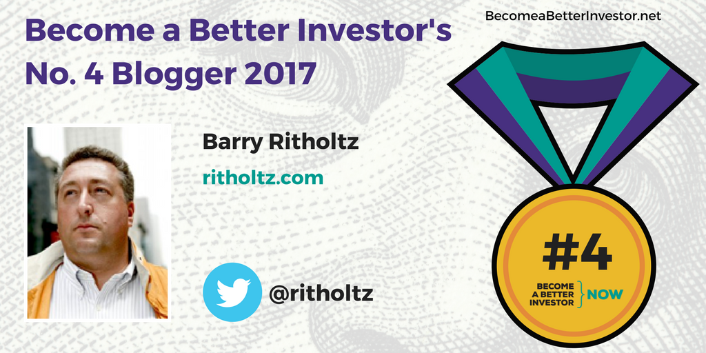 Congratulations @ritholtz on becoming the No. 4 Become a Better Investor Blogger 2017!