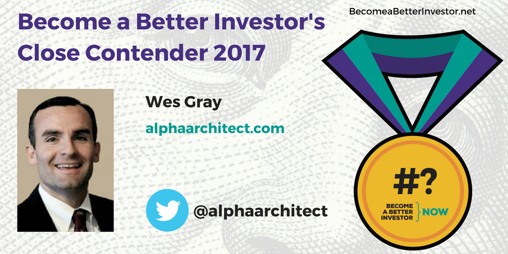 Congratulations @alphaarchitect on being a Become a Better #Investor's Close Contender 2017!
