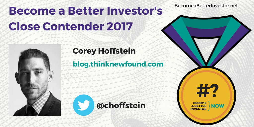 Congratulations @choffstein on being a Become a Better #Investor's Close Contender 2017!