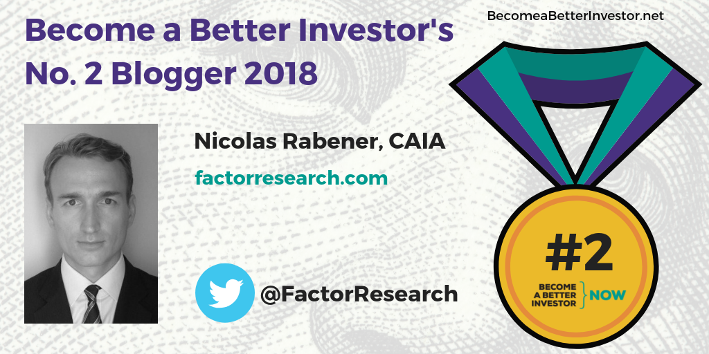 Congratulations @FactorResearch for winning the silver medal in Become a Better Investor's Top 5 Bloggers 2018