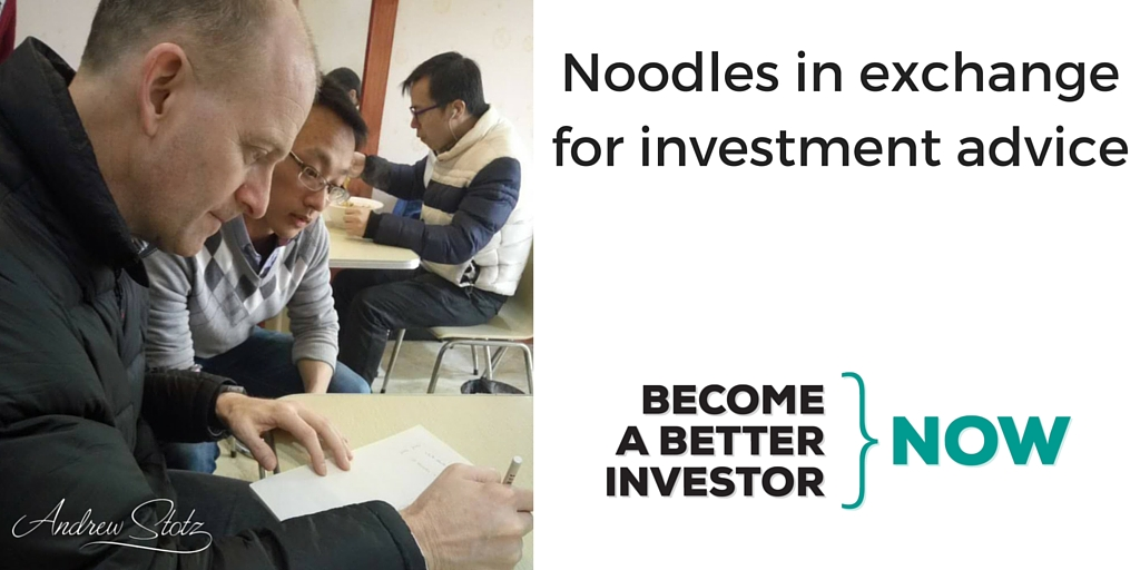Noodles in exchange for #investment advice in #China