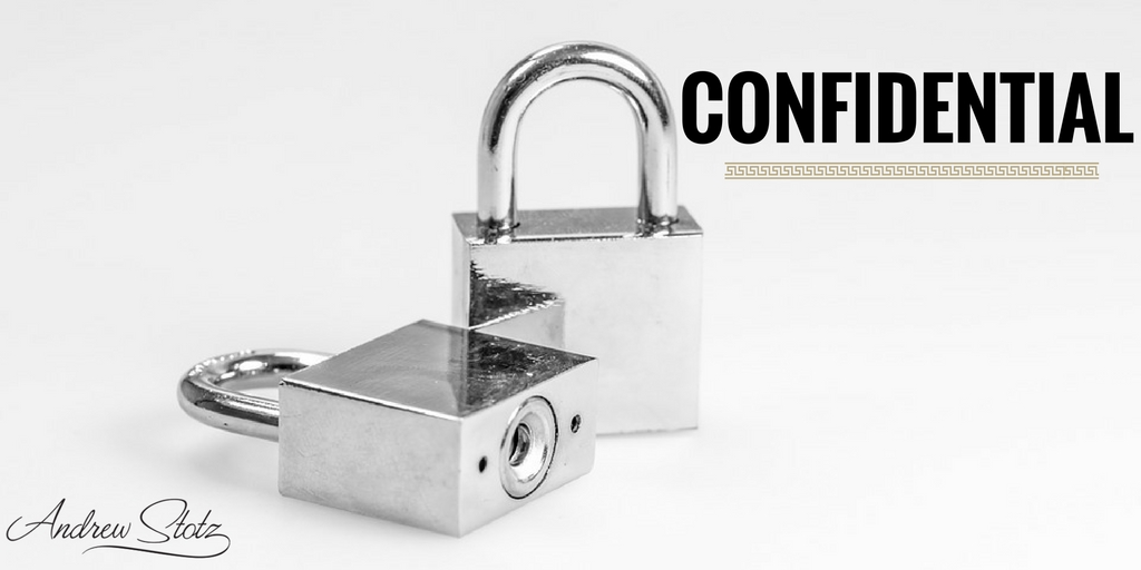 Everything is #confidential with regards to prior, current, and prospective clients