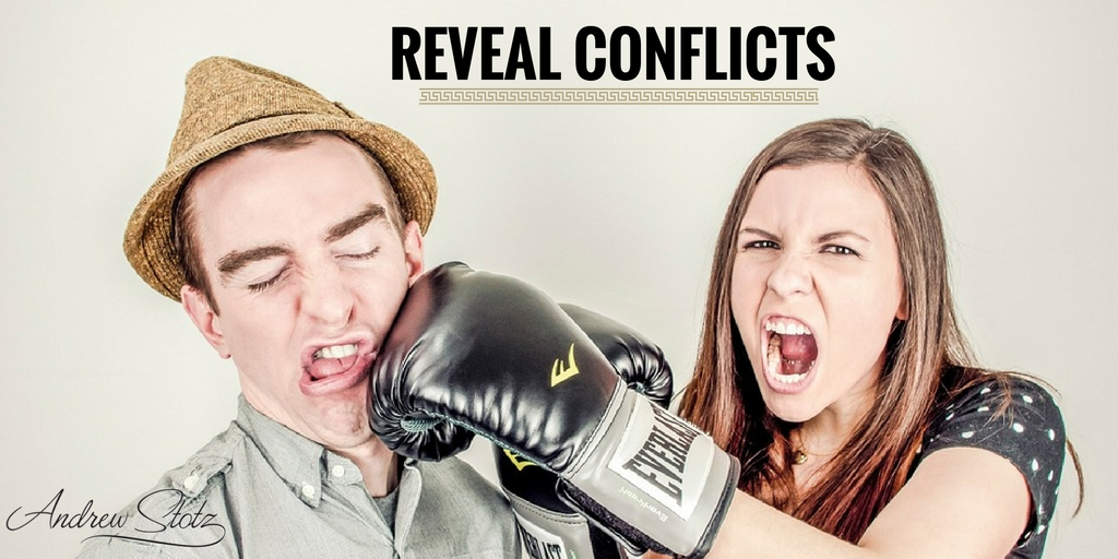 The more important thing is to reveal conflicts to our clients before they take action