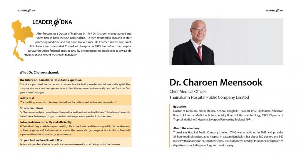 Leader DNA: Dr. Charoen Meensook of Thainakarin Hospital #Thailand #BusinessDNA