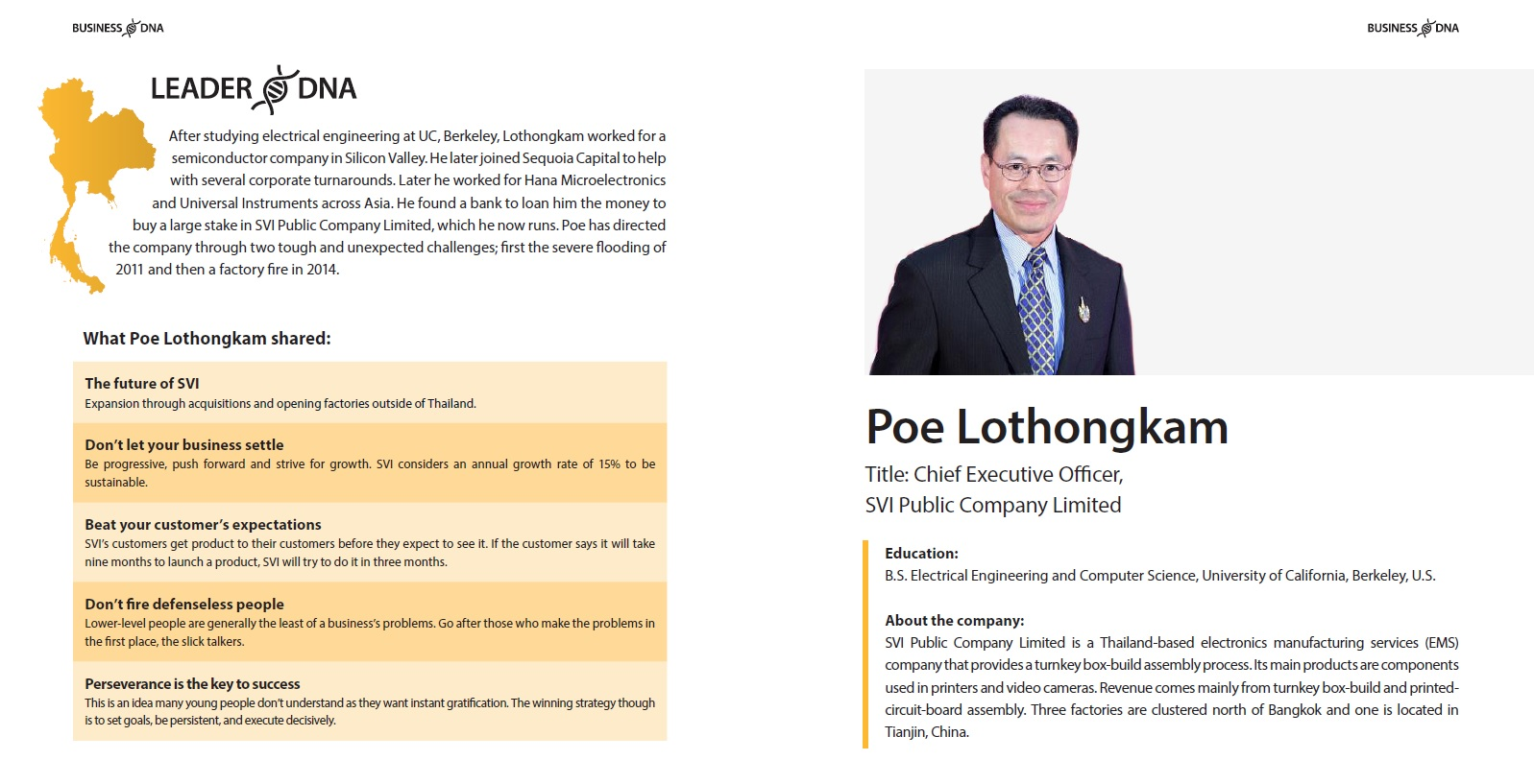 Leader DNA: Poe Lothongkam - a #Thailand born #entrepreneur