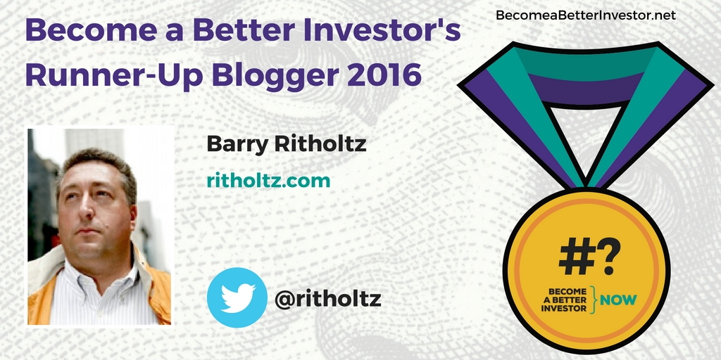 Congratulations @ritholtz on becoming a runner-up Become a Better Investor Blogger 2016!