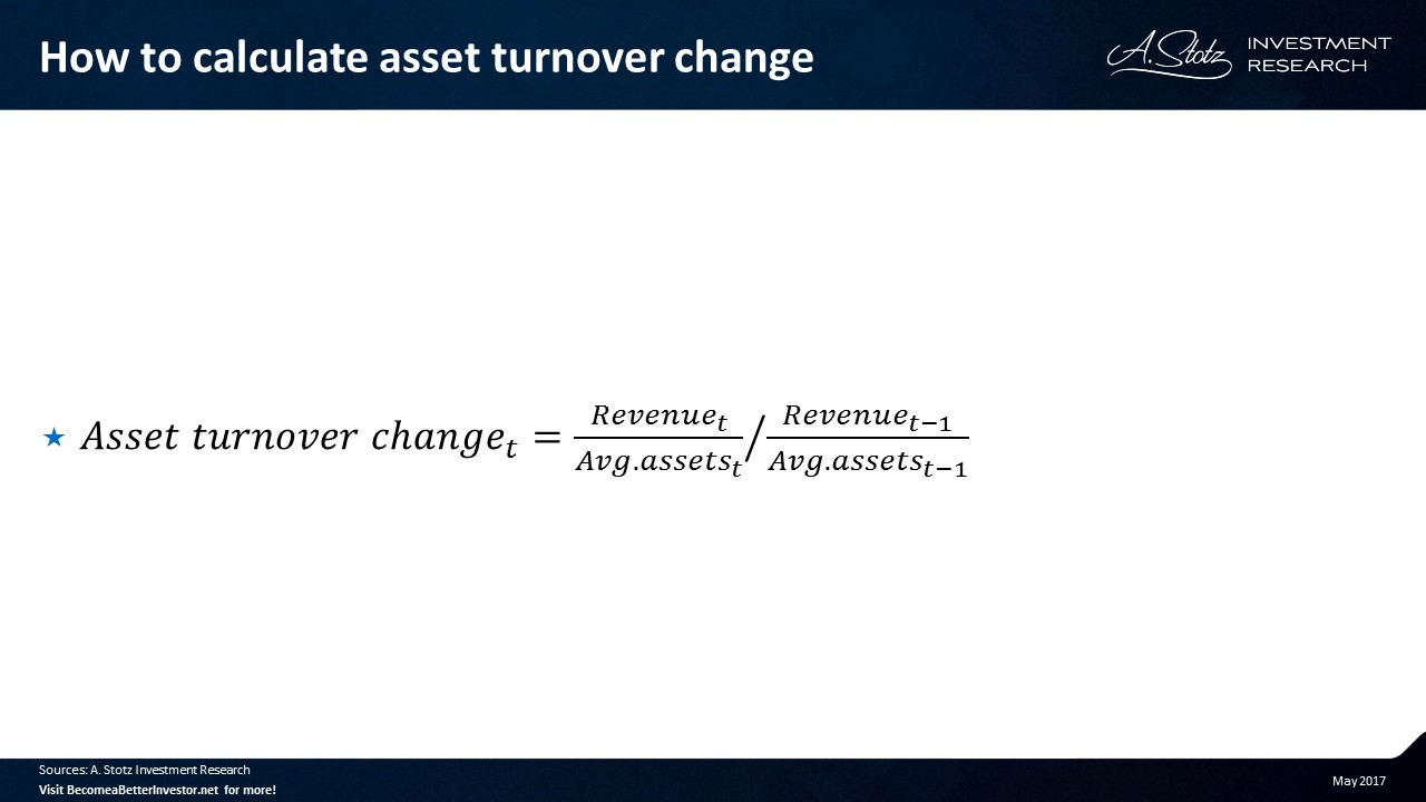 How to calculate #asset turnover change