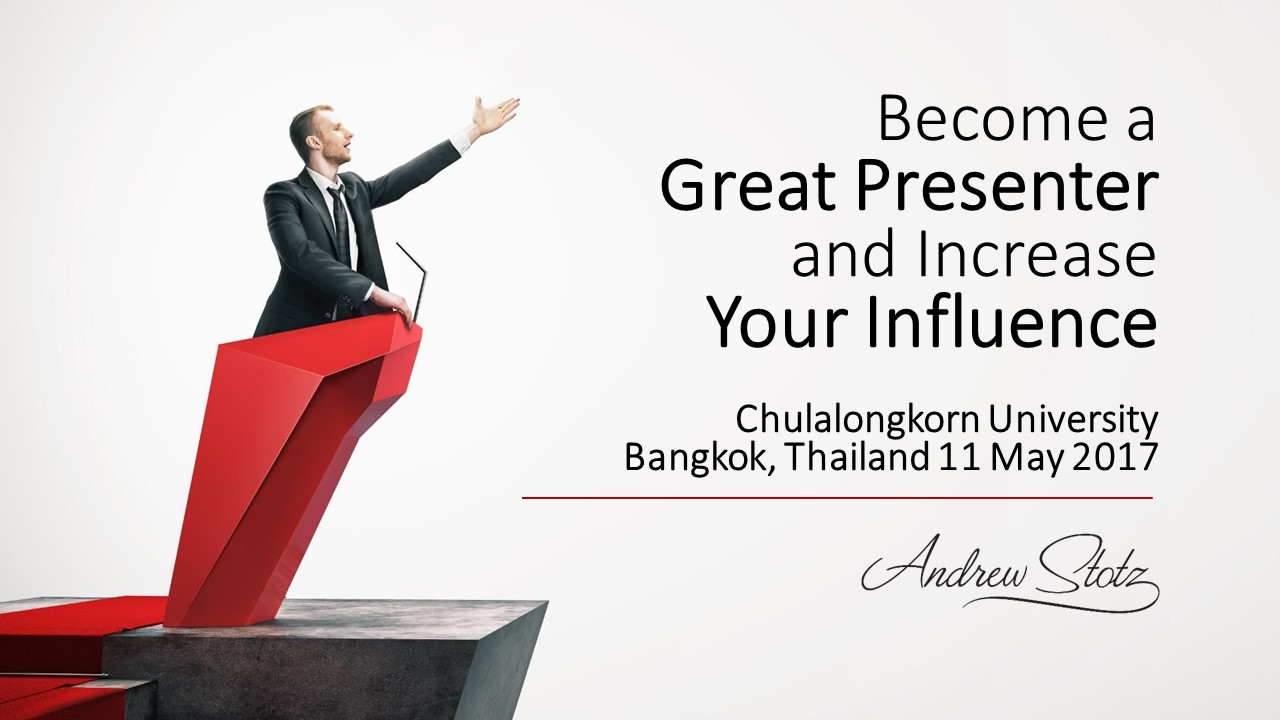 Become a Great Presenter and Increase Your #Influence with @Andrew_Stotz