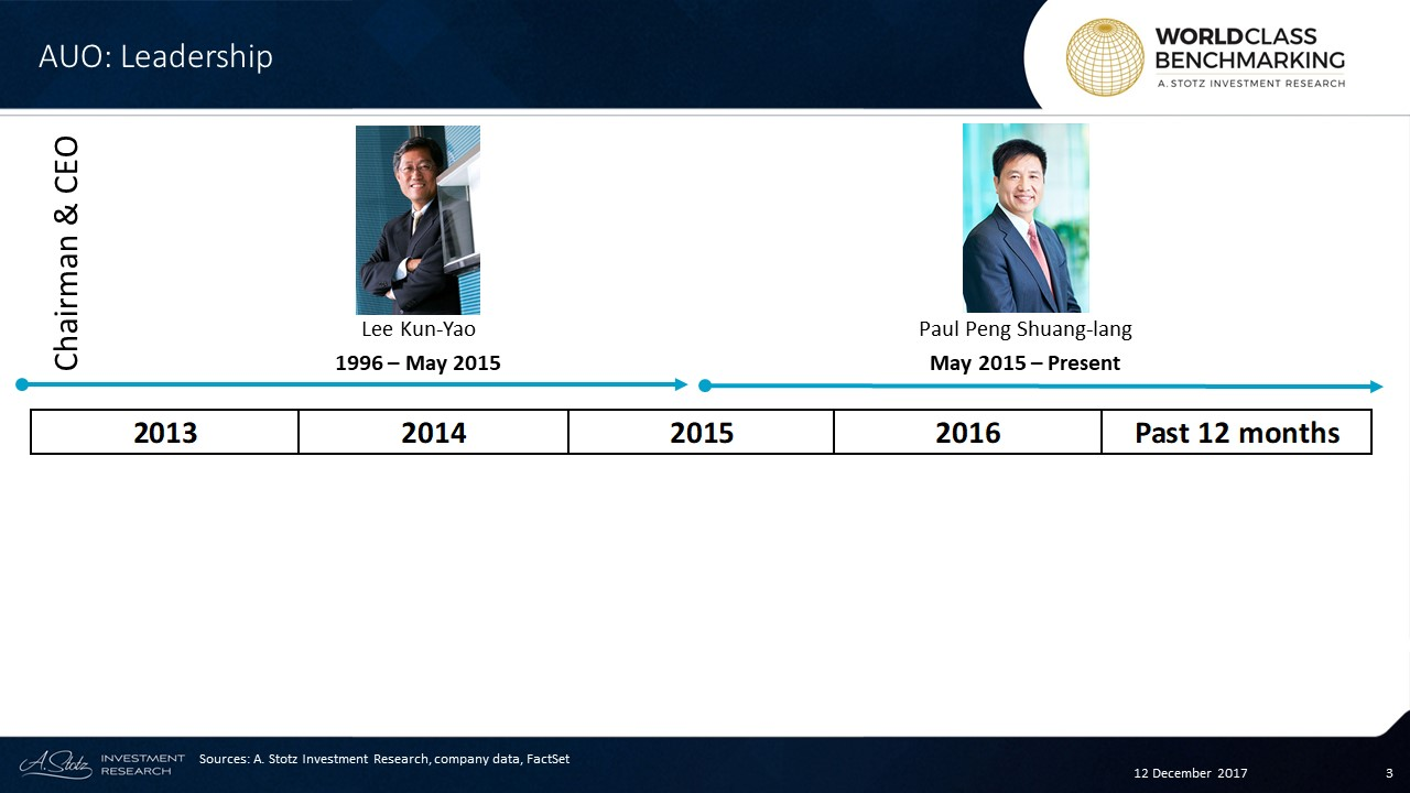 Lee Kun-Yao, #founder and #chairman of AU Optronics, stepped down in 2015