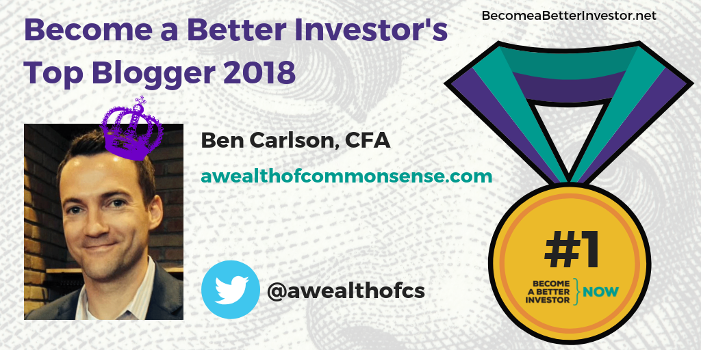 Congratulations @awealthofcs for winning the gold medal for the third year in Become a Better Investor's Top 5 Bloggers 2018