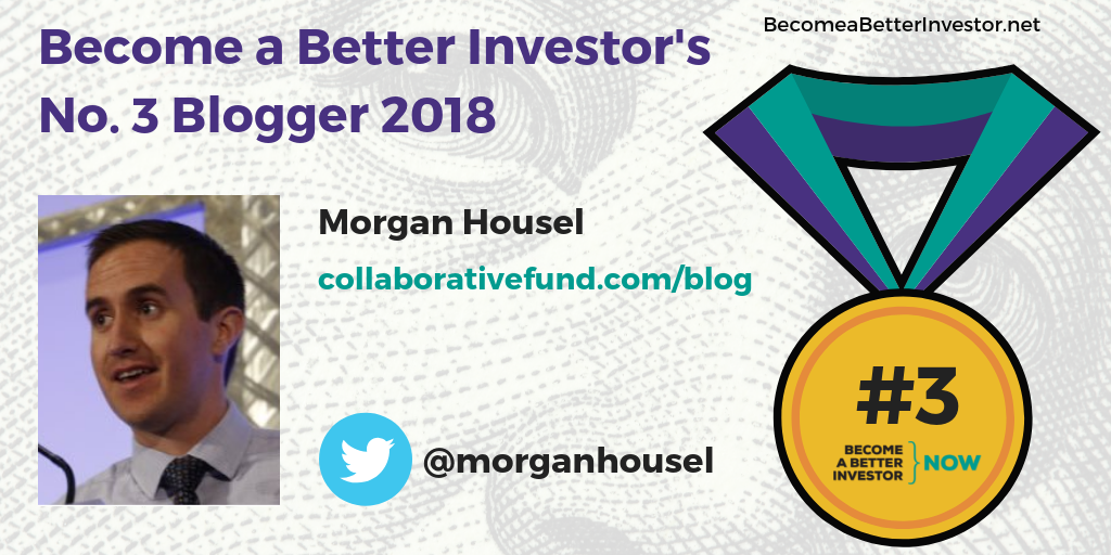 Congratulations @morganhousel for winning the bronze medal in Become a Better Investor's Top 5 Bloggers 2018