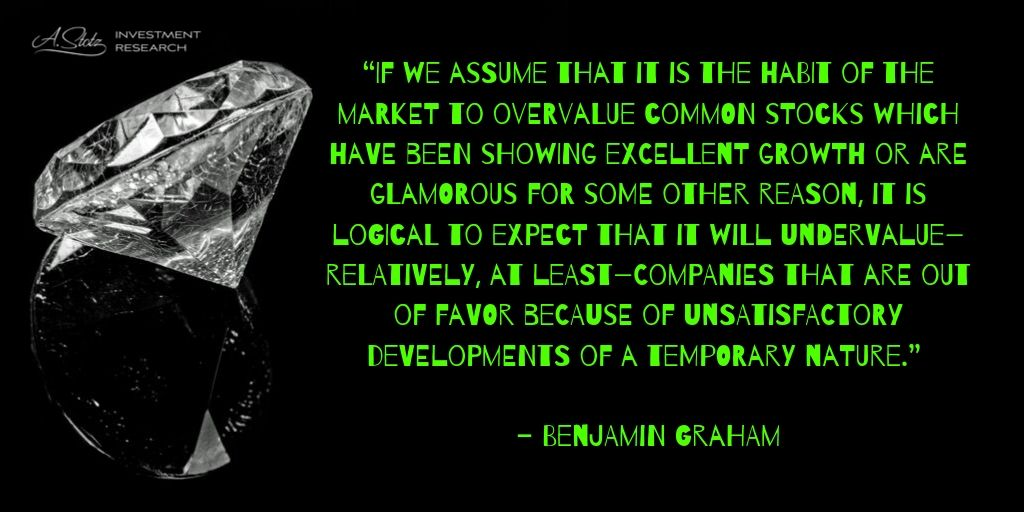 The market to overvalue common stocks which have been showing excellent growth or are glamorous for some other reason...